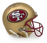 Steve Young 1997 San Francisco 49ers Game Worn & Signed Helmet - Young Hologram, Excellent Wear