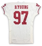 Bryant Young 1995 San Francisco 49ers Game Worn & Signed Road Jersey (49ers LOA)