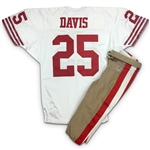 Eric Davis 1995 San Francisco 49ers Game Worn Road Jersey & Pants - Perfect Provenance, Solid Wear (49ers LOA)