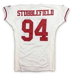 Dana Stubblefield 1995 San Francisco 49ers Game Worn Road Jersey - Excellent Provenance, Evident Use