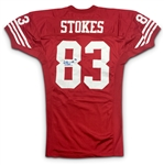 JJ Stokes 1995 San Francisco 49ers Game Worn & Autographed Home Jersey - 49ers Provenance