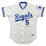 George Brett 1991 Kansas City Royals Game Used & Autographed Home Jersey (JSA/Miedema LOA)