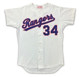 Nolan Ryan 1992 Texas Rangers Game Used Home Jersey (MEARS LOA)
