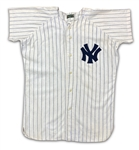 Mickey Mantle 1960 New York Yankees Pinstripe Home Salesman Sample Jersey