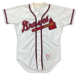 Chipper Jones Circa Early 90s Richmond Braves Game Used Minor League Home Jersey (Miedema LOA)