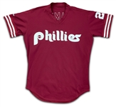 Mike Schmidt 1985-87 Philadelphia Phillies Batting Practice Used & Autographed Jersey