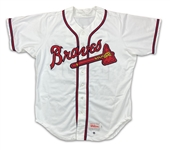John Smoltz 1996 Atlanta Braves Game Used & Autographed Home Jersey