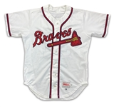 Greg Maddux 1996 Atlanta Braves Game Used & Autographed Home Jersey