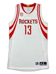 James Harden 2016-17 Houston Rockets Game Used Home Jersey - TRIPLE DOUBLE! PHOTO MATCHED (Resolution)
