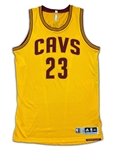 LeBron James 2014-16 Cleveland Cavaliers Game Used & Autographed Home Jersey - Rare Alternate (MEARS A10/Staff LOA)