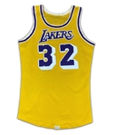 "Earvin ""Magic"" Johnson 1979-85 Los Angeles Lakers Game Used Home Jersey - Solid Wear (Miedema LOA)"