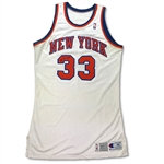 Patrick Ewing 1991-92 NY Knicks Game Used & Signed Jersey - Season Long Wear, PHOTO MATCHED (76ers LOA/RGU LOA)