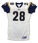 Marshall Faulk 2003 St. Louis Rams Game Used Road Jersey - 3 Team Repairs (MEARS)