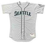 Ken Griffey Jr. 2009 Seattle Mariners Game Used & Autographed Road Jersey - PHOTO MATCHED to 6 Games! (Meigray/Miedema/Player LOA)
