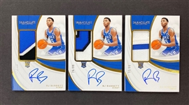 (3) RJ Barrett 2019-20 Panini Immaculate Rookie Auto Patch #d to 99 - #3 Draft Pick! NY Knicks!