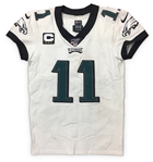 Carson Wentz 2019 Philadelphia Eagles Game Used & Autographed Jersey - 100th NFL Patch, 2 TDs! PHOTO MATCHED! (RGU LOA)
