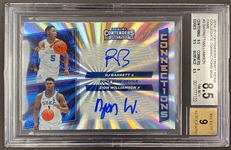 2019-20 Zion Williamson & RJ Barrett Contenders Connections 1/1 Dual Rookie Auto graded BGS 8.5 - Only One in Existence!