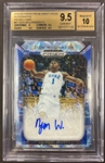 Zion Williamson 2019-20 Panini Prizm Draft Picks Blue Camo Auto #d 7/12 graded BGS 9.5 Gem Mint
