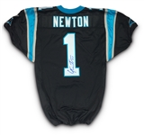 Cam Newton 2011 Signed Game Issued Carolina Panthers Home Rookie Jersey - NFL Auctions