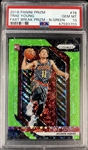 Trae Young 2018-19 Panini Prizm Fast Break NEON GREEN Rookie Card #d 4/5! - PSA 10 (Population 1) Ultra Rare Investment Piece