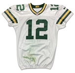 Aaron Rodgers 2016 Green Bay Packers Game Worn Jersey - Photo Matched to 2 Games! 782 Yards and 6 Touchdowns! Monster Stats!