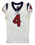 Deshaun Watson 10/21/18 Houston Texans Game Worn, Signed & Inscribed Jersey - Photo Matched (Athletes Club Co, RGU) Touchdown