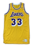 Kareem Abdul-Jabbar 1988-89 Los Angeles Lakers Game Worn Home Jersey - (Miedema LOA) Final Record Setting NBA Season
