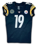 JuJu Smith-Schuster 1/14/18 Pittsburgh Steelers Game Worn, Signed & Inscribed ROOKIE Playoff Jersey - Photo Matched (Athletes Club Co, RGU) DMR Patch
