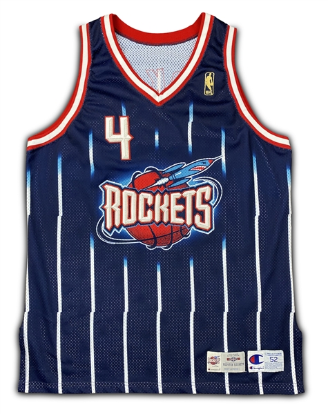 Charles Barkley 1996-97 Houston Rockets Game Worn Road Jersey - Outstanding Wear (RGU Grade 10)