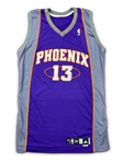 Steve Nash 2007-08 Phoenix Suns Team Issued Road Jersey - Name Change
