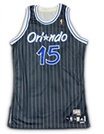 Vince Carter 2009-10 Orlando Magic Game Worn Hardwood Classic Retro Road Jersey - Rare Style (Miedema LOA)