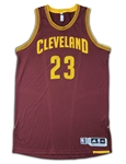LeBron James 2016-17 Cleveland Cavaliers Game Worn Road Jersey - Evident Game Use, Team Sourced (RGU Grade 10)