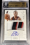 "Damian Lillard 2012-13 National Treasures Rookie Patch Auto /99 - BGS 10 Pristine! 4 Color ""S"" Patch - (Population 7) 10 Auto Grade! HOT!"