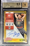 Trae Young 2018-19 Contenders GOLD Rookie Ticket Auto /10 - BGS 9.5 Gem Mint! (Population 4) None Graded Higher