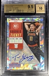 Trae Young 2018-19 Contenders Cracked Ice Rookie Ticket Auto /20 - BGS 9.5 Gem Mint! (Population 5) Only 1 Graded Higher