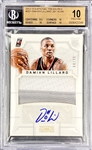 Damian Lillard 2012-13 National Treasures Rookie Patch Auto /99 - BGS 10 Pristine! 2 Color Patch (Population 7) 10 Auto Grade! HOT!